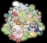 Kirby Café group artwork