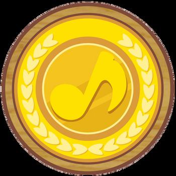 Gold Musical Coin