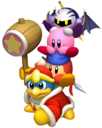 Kirby's Return to Dream Land Artwork Equipo