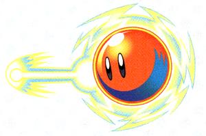Artwork di Palla Laser in Kirby: Topi all'Attacco