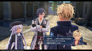 Rean Schwarzer, Altina Orion and Ash Carbide in Heimdallr - Promotional Screenshot (Hajimari)