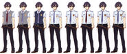 Rean Schwarzer Uniform Variations - Concept Art (Sen)