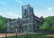 Old Schoolhouse Sketch Coloured - Concept Art (Sen)