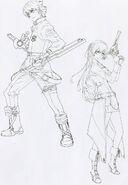 Lloyd & Elie Line Art - Character Artwork (Zero)
