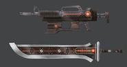 Jaeger weaponry Concept Art (Sen IV)