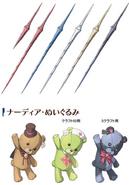 Nadia's weapons Concept Art (Hajimari)