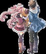 Swin and Nadia Key Visual (Hajimari)