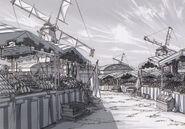Celdic Grand Market Sketch - Concept Art (Sen)