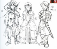 Oscar (Estelle), Cecilia (Joshua) and Julian (Klose) - Sketch (FC)