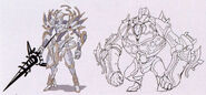 Magic Knight Early Design 1 - Concept Art (Sen II)