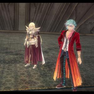 Arianrhod and McBurn at Gral of Erebos (CS III).png