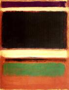 'Magenta, Black, Green on Orange', oil on canvas painting by Mark Rothko, 1947, Museum of Modern Art