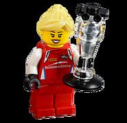 Kierowca wyścigowy Ferrari Scuderia Corsa