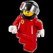 Kierowca wyścigowy Ferrari 75899