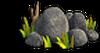 Rock-Handful of gray stones