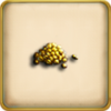 5 ounces of gold dust framed