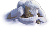 Rock-Snow-covered stones