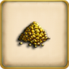 10 ounces of gold dust framed
