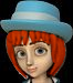 (Klondike) Red Girl Blue Bonnet Hair