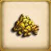 30 ounces of gold dust framed