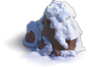 Rock-Snow-covered stone