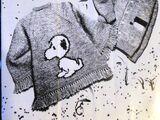 Mary Maxim 8189 Child's Snoopy Dog Poncho Sweater