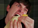 Fish Stick Sandwich Burrito
