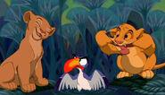 Zazu, Simba, and Nala