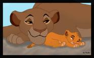 Sarabi and little simba by hydracarina-d373b8o