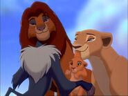 Nala, Simba, Rafiki und Baby Kiara