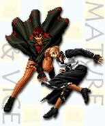 Striker vice y mature KOF 2000
