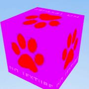 A 2x2x2 block of the NO TEXTURE Block