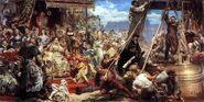 Jan Matejko - Zawieszenie dzwonu Zygmunta na wiezy katedry w roku 1521 w Krakowie