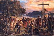 Zaprowadzenie chrzescijanstwa 965 Matejko