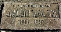 Waltz gravestone