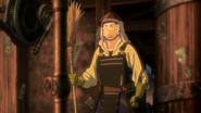 Takumi dressed in armor