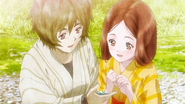 Younger Ikoma with his sister