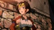 Mumei with her head gear