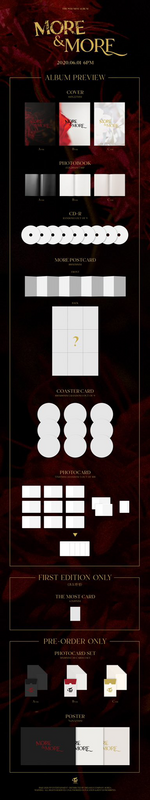TWICE More & More album packaging preview