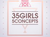 Produce 101: 35 Girls 5 Concepts