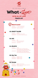 TWICE What is Love track list teaser photo