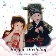 E'LAST Won Hyuk birthday Twitter post (February 22, 2021)