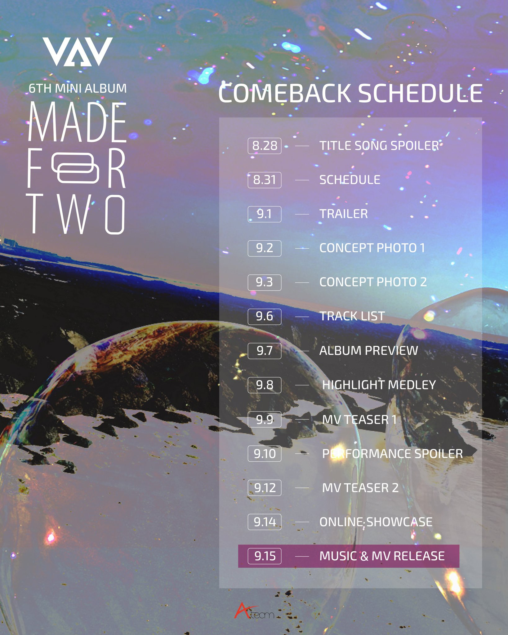 VAV Made For Two comeback schedule.png