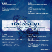 TREASURE The First Step Treasure Effect -JP Ver.- album schedule