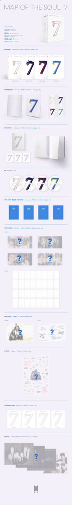 BTS Map of the Soul 7 album packaging