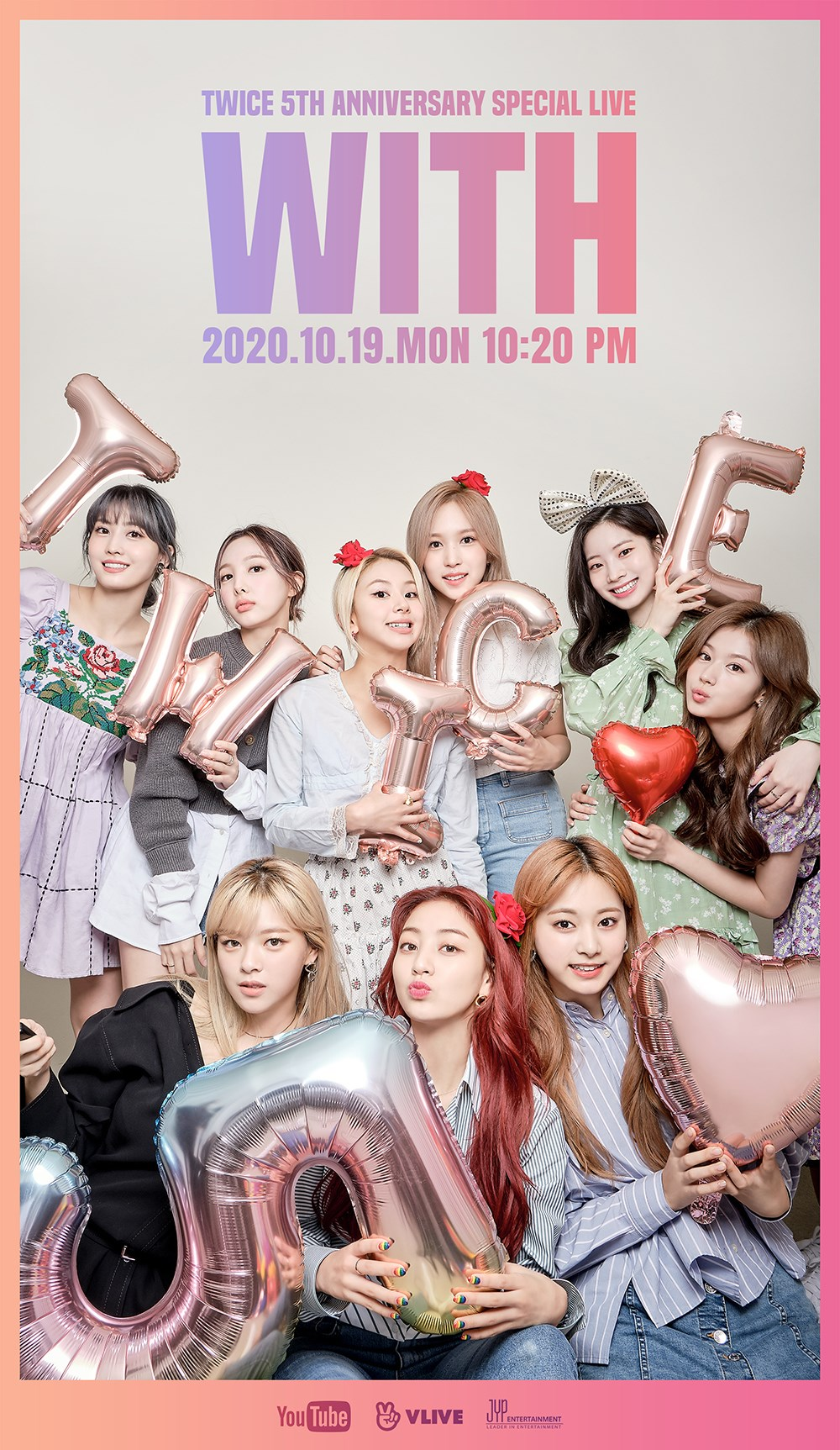 TWICE 5th Anniversary Special Live Poster.png