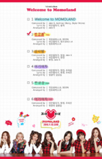 MOMOLAND Welcome to Momoland track list