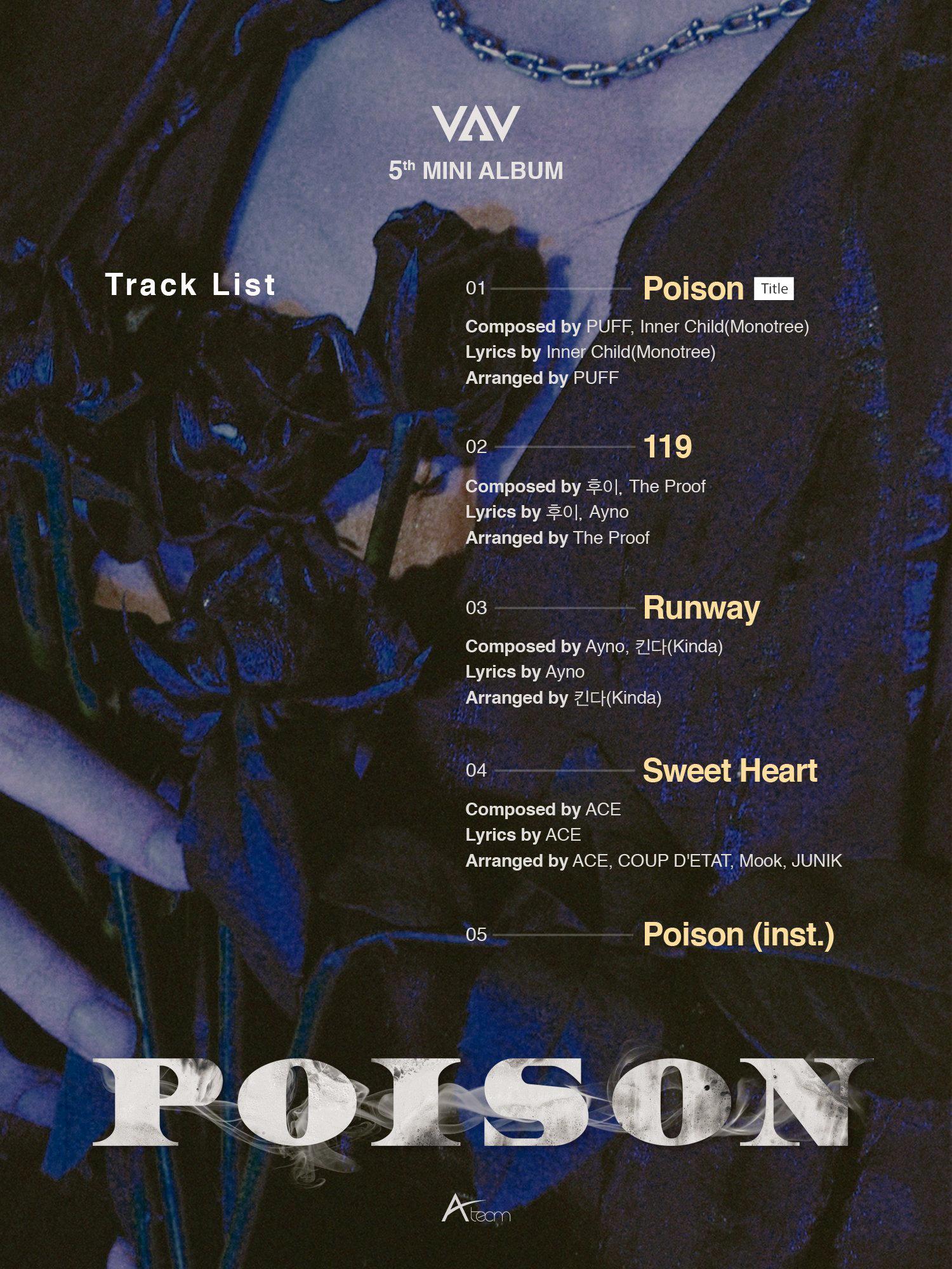 VAV Poison album tracklist.png