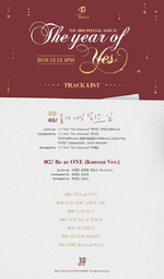 TWICE The Year of Yes track list 2