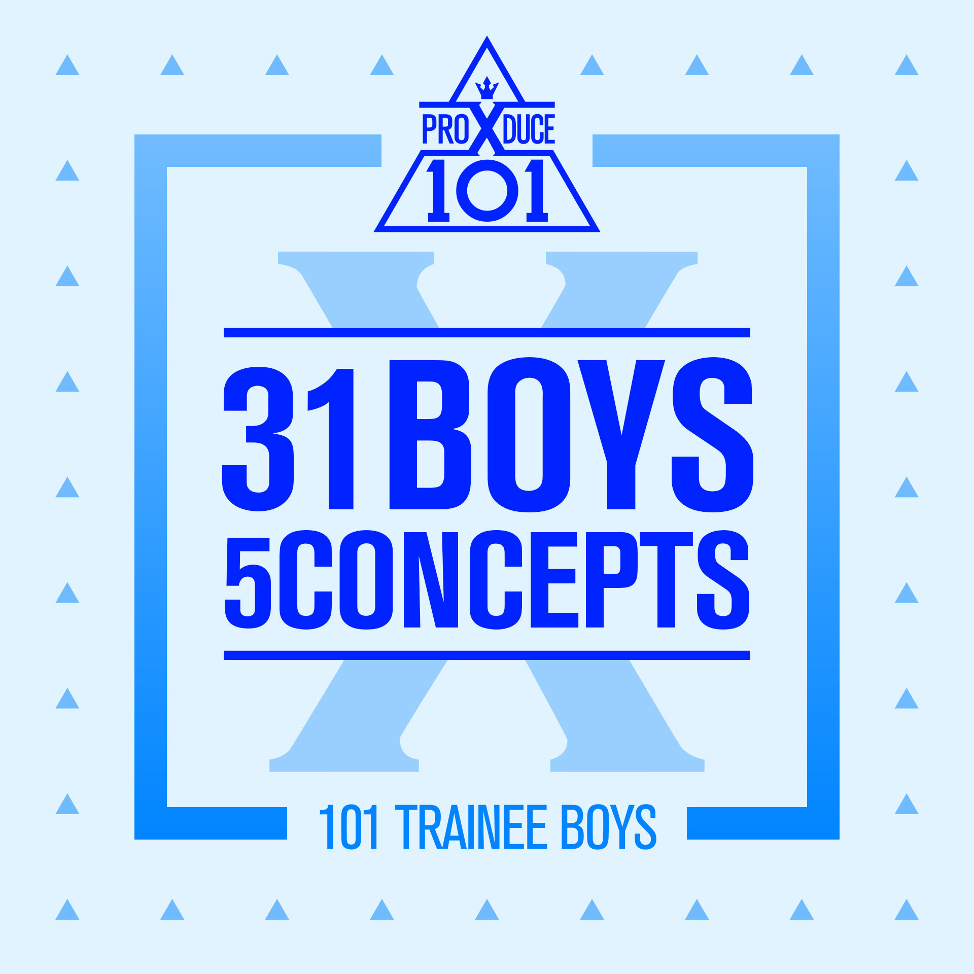 Produce X 101: 31 Boys 5 Concepts